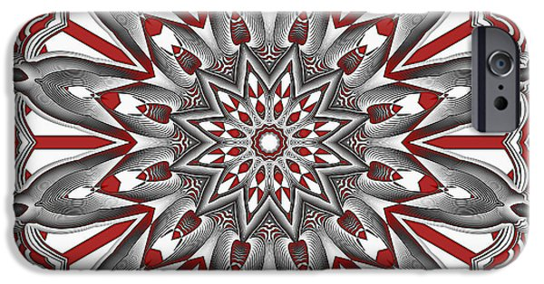 Religious Tapestries - Textiles iPhone Cases - Mandala Flower 4 iPhone Case by Marcus Mattern