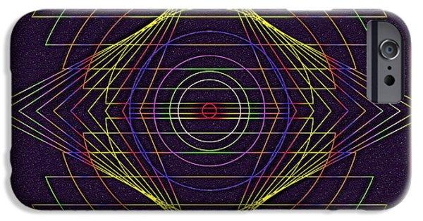 Graphic Design iPhone Cases - Mandala Illustrated iPhone Case by Mario Carini
