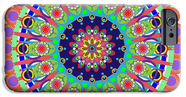 Tibetan Buddhism iPhone Cases - Mandala iPhone Case by Isabel Salvador