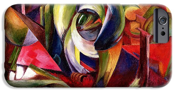 Abstract Expressionist iPhone Cases - Mandrill iPhone Case by Franz Marc