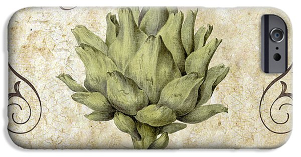 Organic Foods iPhone Cases - Mangia Carciofo Artichoke iPhone Case by Mindy Sommers
