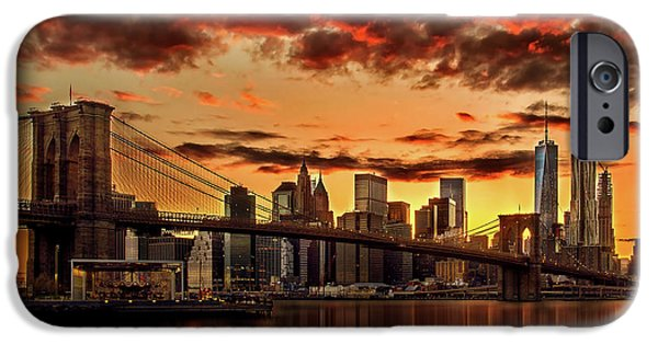 Fiery iPhone Cases - Manhattan BBQ iPhone Case by Az Jackson