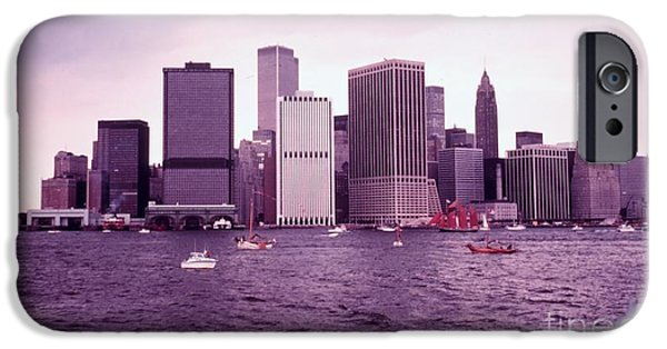Twin Towers Nyc Paintings iPhone Cases - Manhattan Before 9-11 iPhone Case by Celestial Images