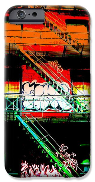 Escape iPhone Cases - Manhattan Fire Escape iPhone Case by Funkpix Photo Hunter