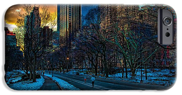 Warner Park iPhone Cases - Manhattan Sunset iPhone Case by Chris Lord