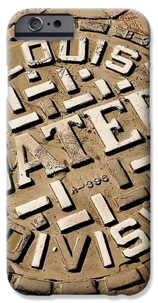 Manhole Cover In St Louis iPhone Case by Mark Williamson