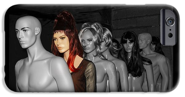 Model iPhone Cases - Mannequins- I am not a robot iPhone Case by Guna  Andersone