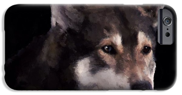 Husky Mixed Media iPhone Cases - Mans Best Friend iPhone Case by Mark Taylor