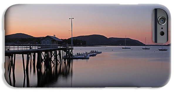 Village iPhone Cases - Manset Harbor iPhone Case by Juergen Roth