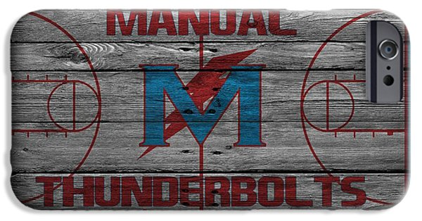 Dunk iPhone Cases - Manual Thunderbolts 4 iPhone Case by Joe Hamilton