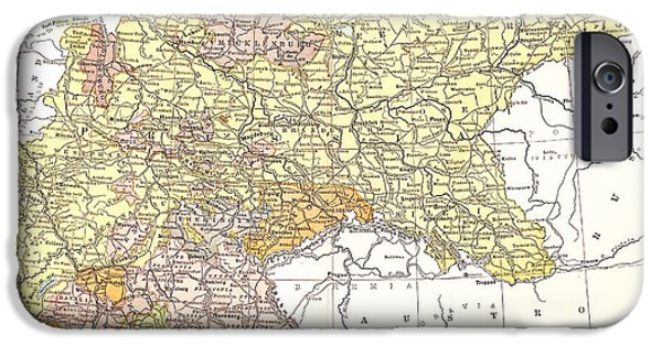 Germany Map iPhone Cases - Map: German Empire iPhone Case by Granger