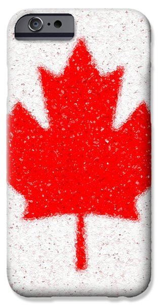 Maple Leaf abstract iPhone Case by Cristophers Dream Artistry