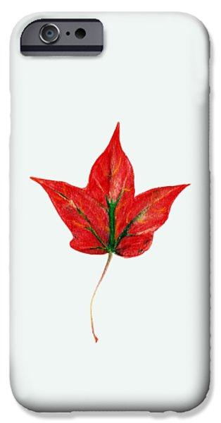 Fall iPhone Cases - Maple Leaf iPhone Case by Anastasiya Malakhova