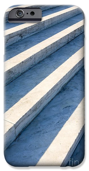 Marble Steps, Jefferson Memorial, Washington DC, USA, North America iPhone Case by Paul Edmondson