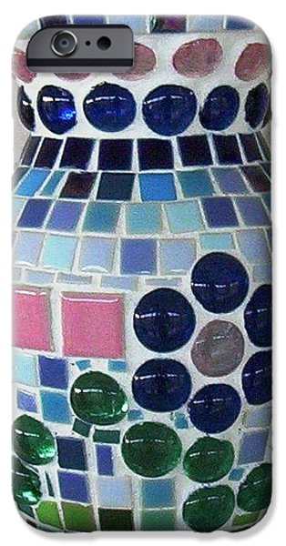 Square Ceramics iPhone Cases - Marble Vase iPhone Case by Jamie Frier