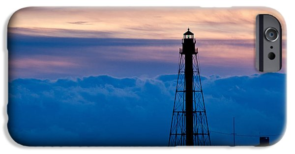 New England Lighthouse iPhone Cases - Marblehead Light iPhone Case by Susan Cole Kelly