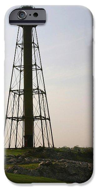 Massachusetts Coast iPhone Cases - Marblehead Lighthouse Massachusetts iPhone Case by Michelle Wiarda