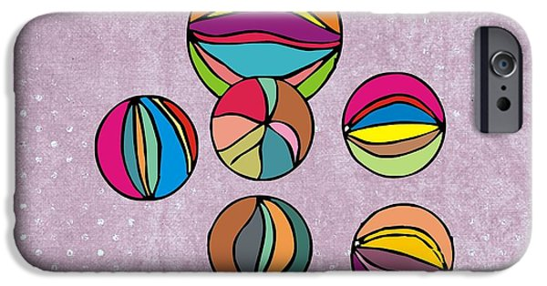 Toy Shop Digital iPhone Cases - Marbles iPhone Case by Priscilla Wolfe