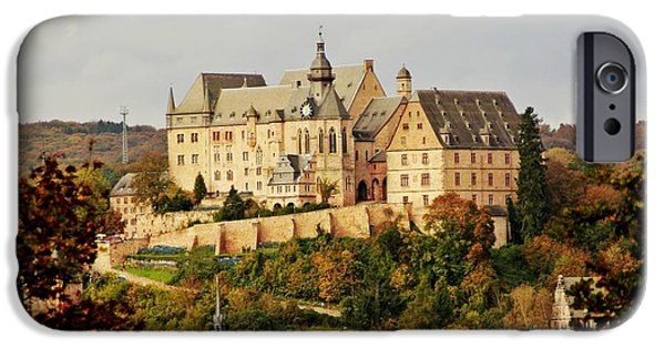 Abstract Expressionist iPhone Cases - Marburg Castle Germany H b iPhone Case by Gert J Rheeders