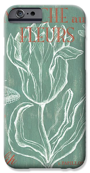 Flight iPhone Cases - Marche aux Fleurs iPhone Case by Debbie DeWitt