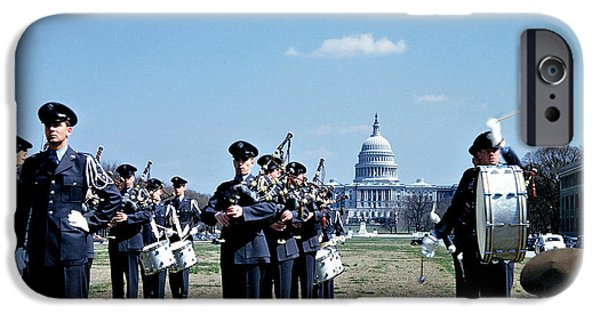 Marching Band Photographs iPhone Cases - Marching Band at Capitol iPhone Case by Marilyn Hunt