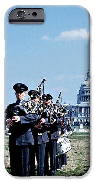 Marching Band at Capitol iPhone Case by Marilyn Hunt