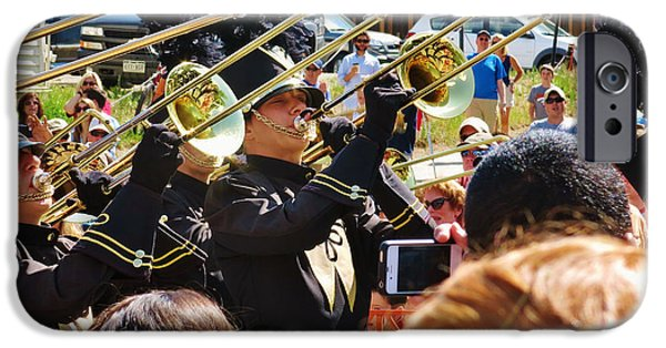 Fourth Of July iPhone Cases - Marching Band Brass iPhone Case by Sarah Maple