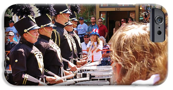 Fourth Of July iPhone Cases - Marching Band Drummers iPhone Case by Sarah Maple