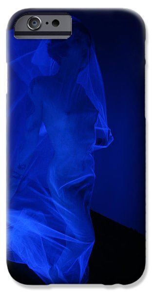 Blue Abstracts iPhone Cases - Marching On iPhone Case by Gary Perez