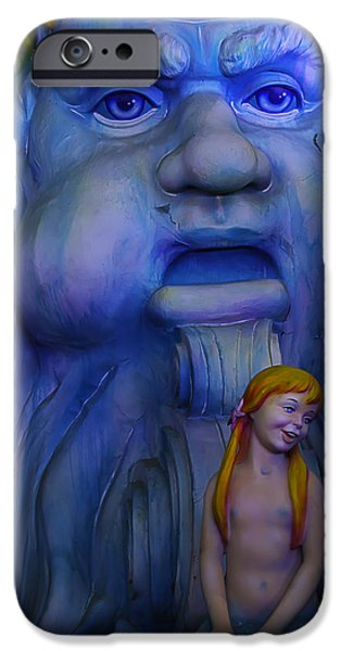 Extinct And Mythical Photographs iPhone Cases - Mardi Gras Mermaid iPhone Case by Garry Gay