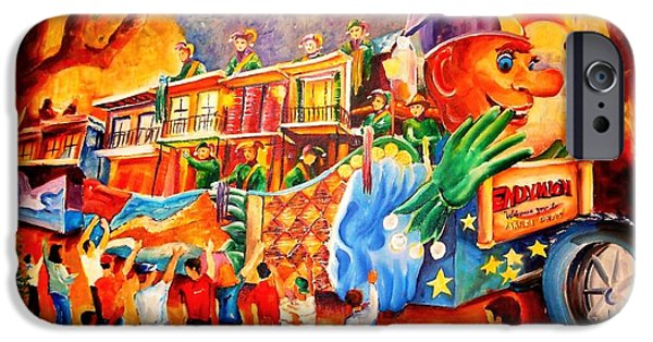 Mardi Gras Paintings iPhone Cases - Mardi Gras with Endymion iPhone Case by Diane Millsap