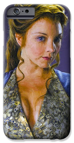 Celebrities Art iPhone Cases - Margaery Tyrell - Game Of Thrones iPhone Case by Nikola Durdevic