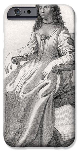Duchess iPhone Cases - Margaret Cavendish Nee Lucas Duchess Of iPhone Case by Vintage Design Pics