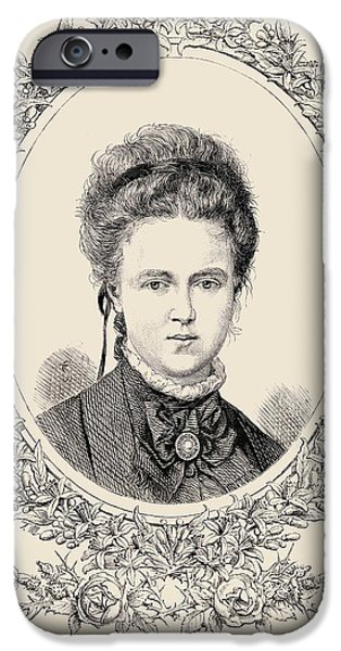 Duchess iPhone Cases - Maria Alexandrovna, Her Imperial iPhone Case by Ken Welsh