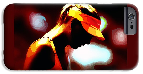 Maria Sharapova Mixed Media iPhone Cases - Maria Sharapova 5b iPhone Case by Brian Reaves