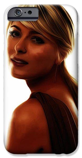 Maria Sharapova Mixed Media iPhone Cases - Maria Sharapova 5c iPhone Case by Brian Reaves