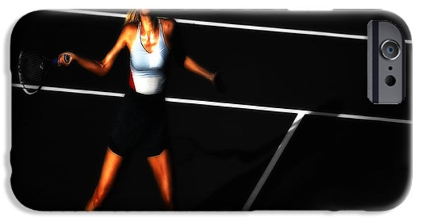 Wta iPhone Cases - Maria Sharapova Focus iPhone Case by Brian Reaves