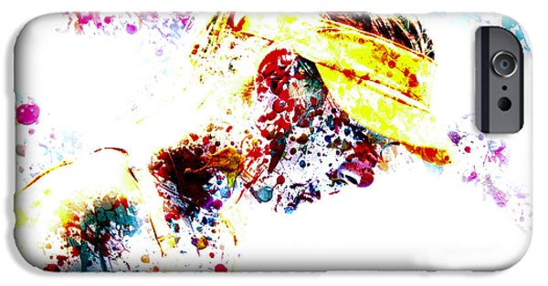 Wta iPhone Cases - Maria Sharapova Paint Splatter 4p                 iPhone Case by Brian Reaves