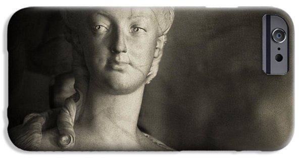 Statue Portrait iPhone Cases - Marie Antoinette iPhone Case by Hsin Liu