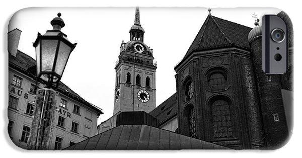 Marienplatz iPhone Cases - Marienplatz View iPhone Case by John Rizzuto