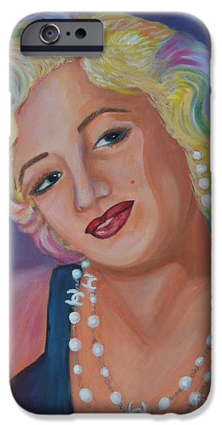Lips iPhone Cases - Marilyn Monroe 3 iPhone Case by To-Tam Gerwe