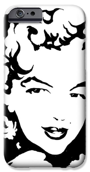 Marilyn Monroe iPhone Case by Curtiss Shaffer