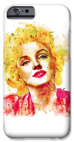 1950s Portraits iPhone Cases - Marilyn Monroe  iPhone Case by Marian Voicu