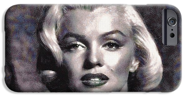 D.c. iPhone Cases - Marilyn Monroe Painting On Canvas . iPhone Case by Sir Josef  Putsche