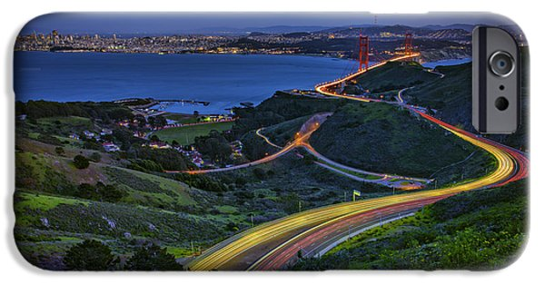 San Francisco Bay Bridge iPhone Cases - Marin Headlands iPhone Case by Rick Berk