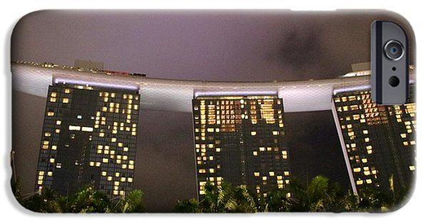 States iPhone Cases - Marina Bay Sands iPhone Case by Diane Height