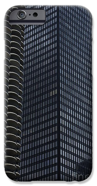 Sears Tower iPhone Cases - Marina City A M A Trump iPhone Case by David Bearden