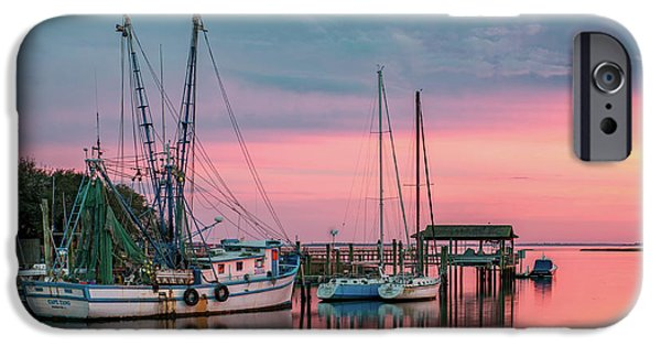 Boat iPhone Cases - Marina Sunset iPhone Case by Drew Castelhano