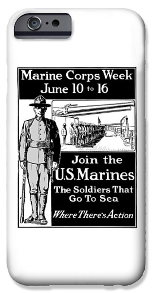 Marine iPhone Cases - Marine Corps Week - WW1  iPhone Case by War Is Hell Store