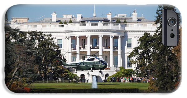 Recently Sold -  - President Obama iPhone Cases - Marine One Landing iPhone Case by Jost Houk
